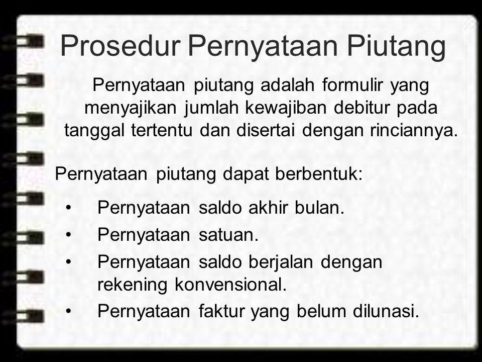 Prosedur Pernyataan Piutang