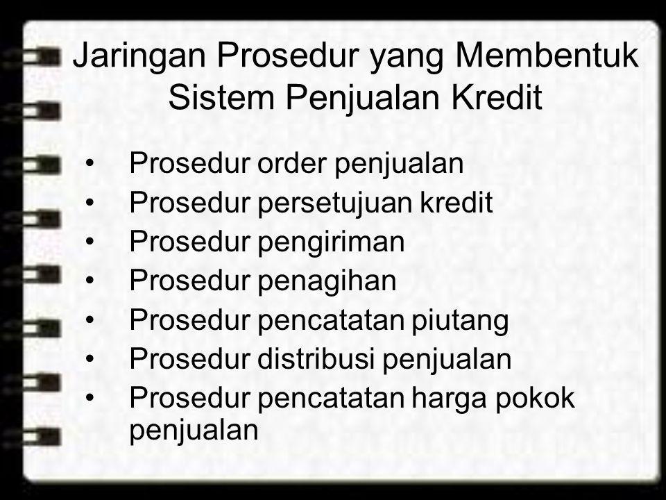 Jaringan Prosedur yang Membentuk Sistem Penjualan Kredit