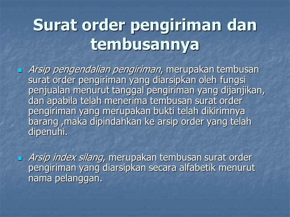 Surat order pengiriman dan tembusannya