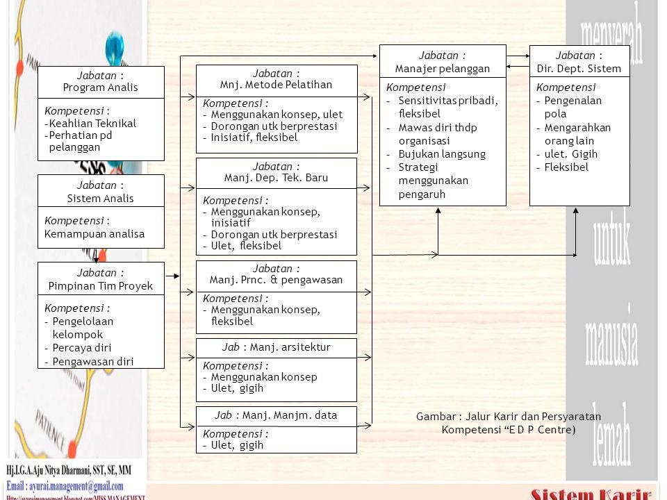 Gambar : Jalur Karir dan Persyaratan Kompetensi E D P Centre)