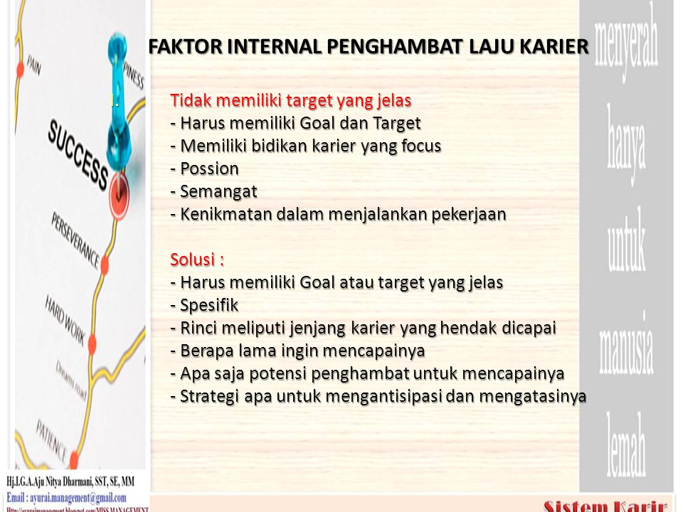FAKTOR INTERNAL PENGHAMBAT LAJU KARIER