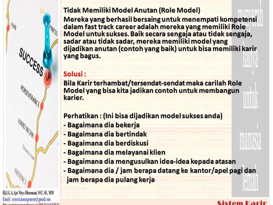 Tidak Memiliki Model Anutan (Role Model)