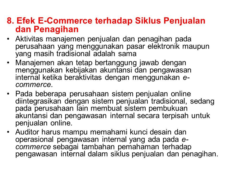 8. Efek E-Commerce terhadap Siklus Penjualan dan Penagihan