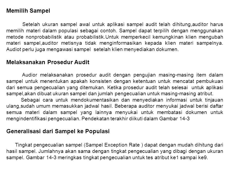 Melaksanakan Prosedur Audit