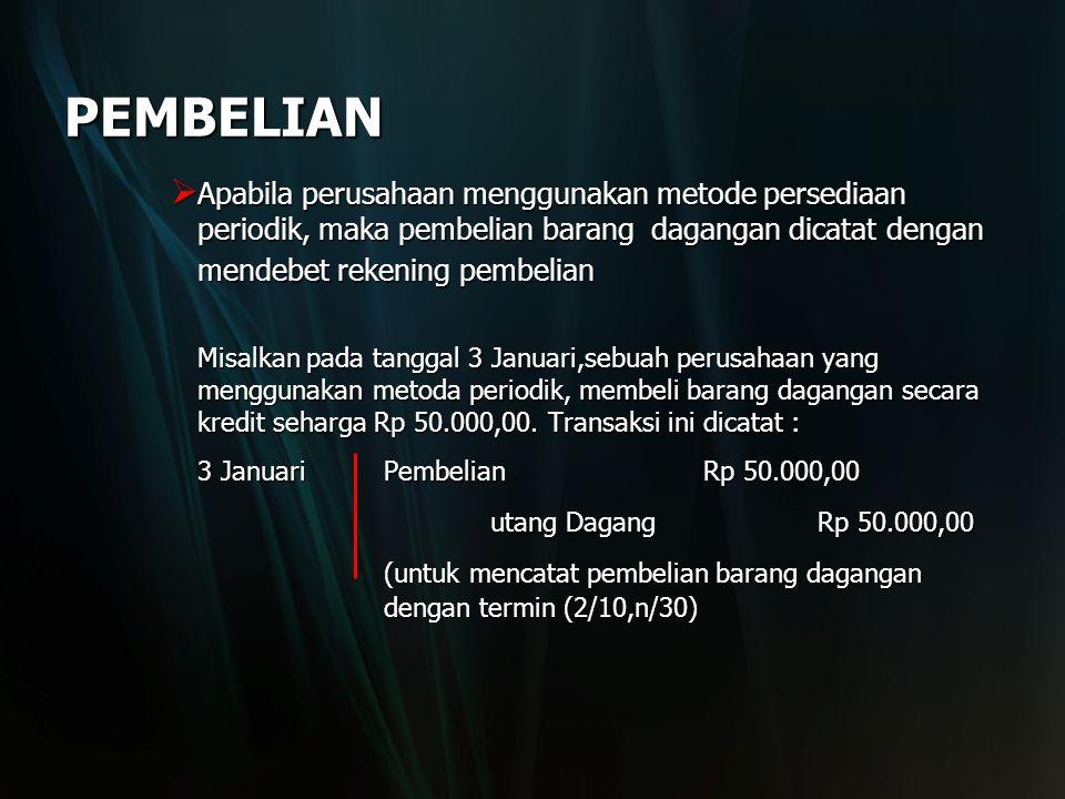 PEMBELIAN utang Dagang Rp 50.000,00