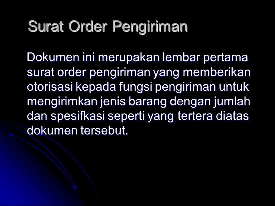 Surat Order Pengiriman