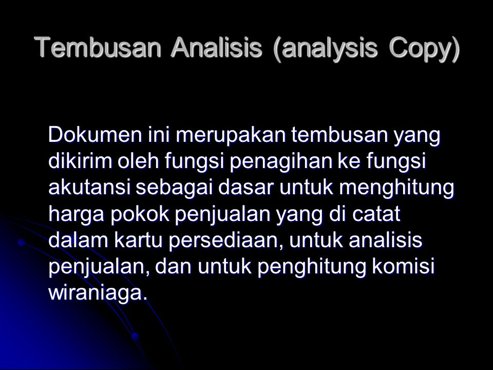 Tembusan Analisis (analysis Copy)