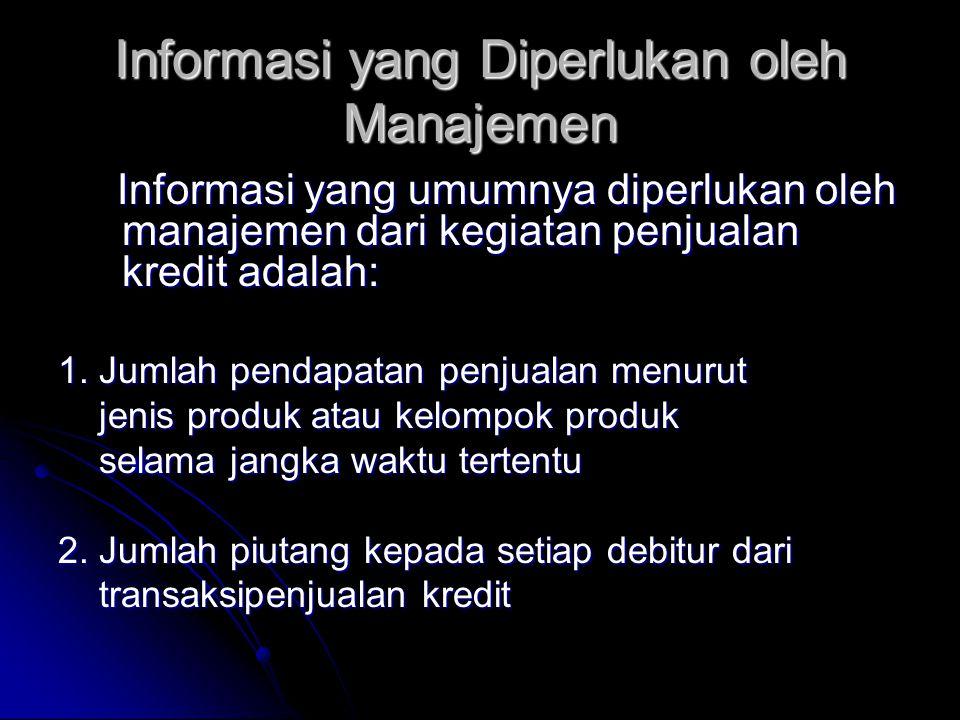 Informasi yang Diperlukan oleh Manajemen