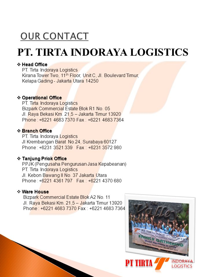 PT. TIRTA INDORAYA LOGISTICS