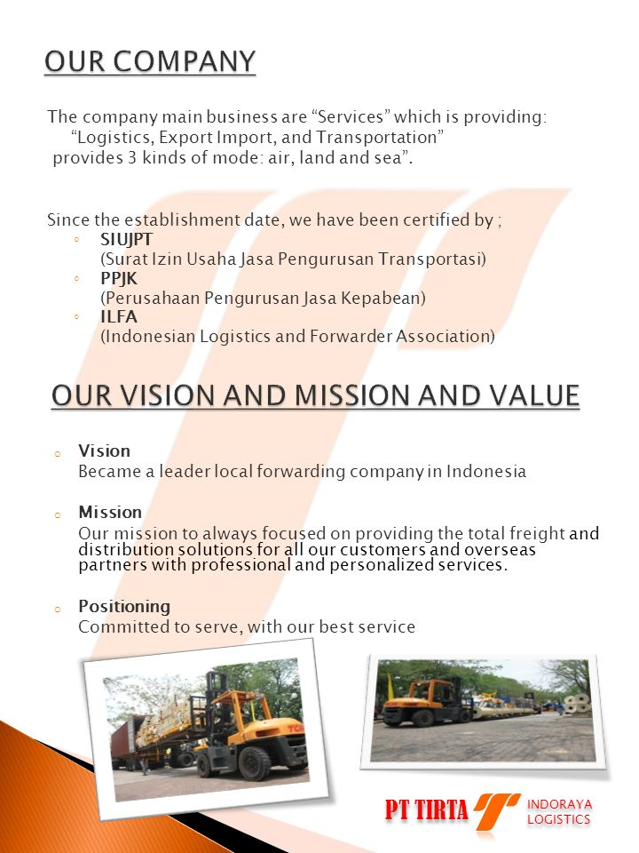 OUR VISION AND MISSION AND VALUE
