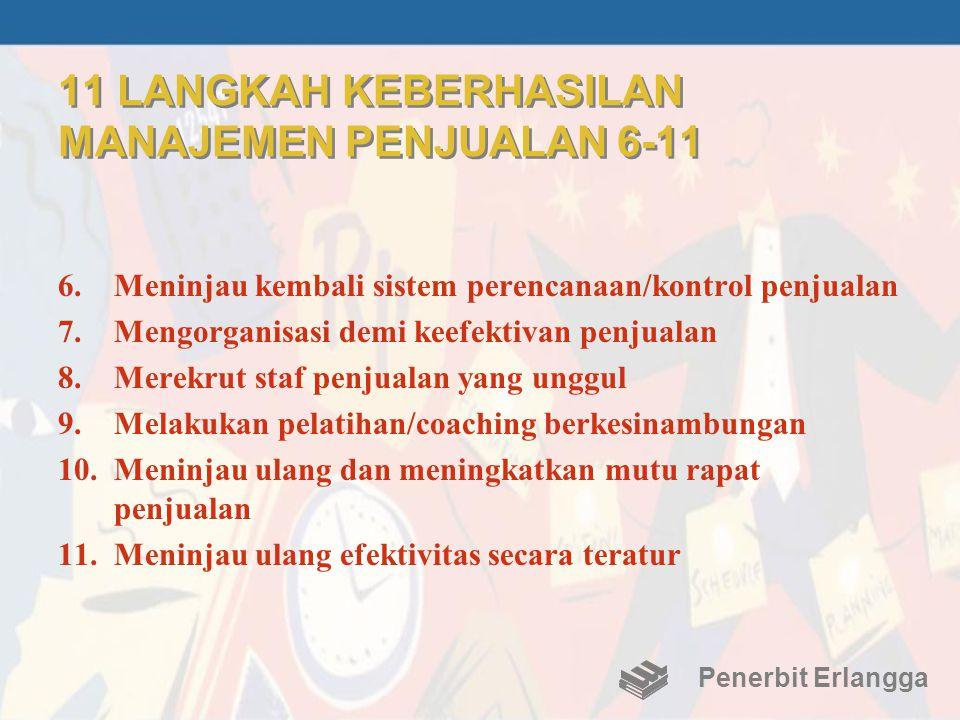 11 LANGKAH KEBERHASILAN MANAJEMEN PENJUALAN 6-11