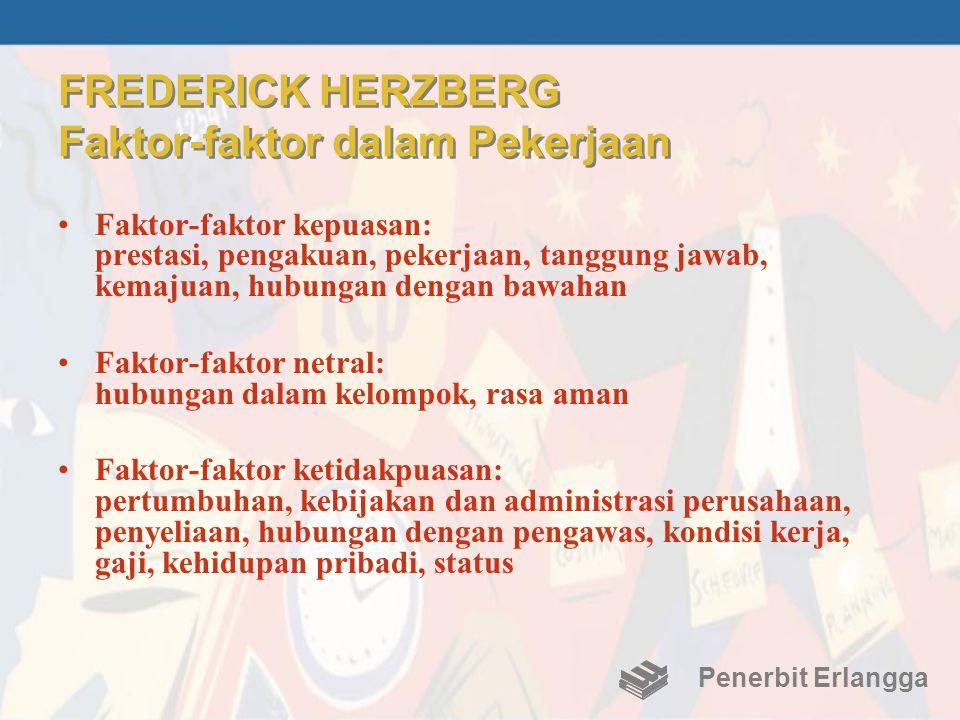 FREDERICK HERZBERG Faktor-faktor dalam Pekerjaan