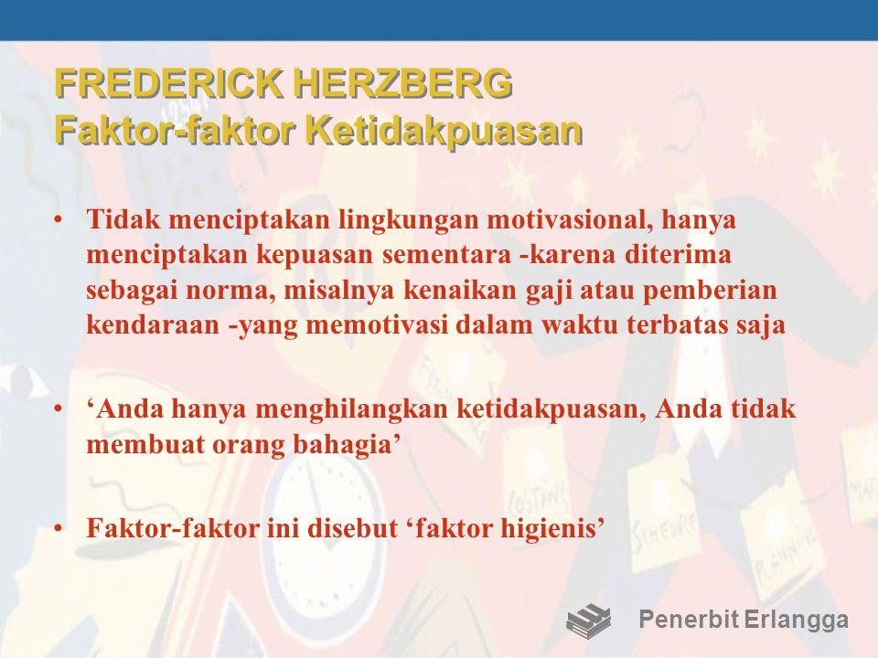 FREDERICK HERZBERG Faktor-faktor Ketidakpuasan