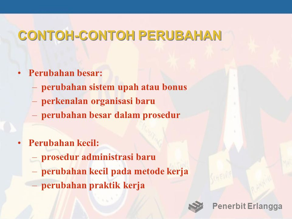 CONTOH-CONTOH PERUBAHAN