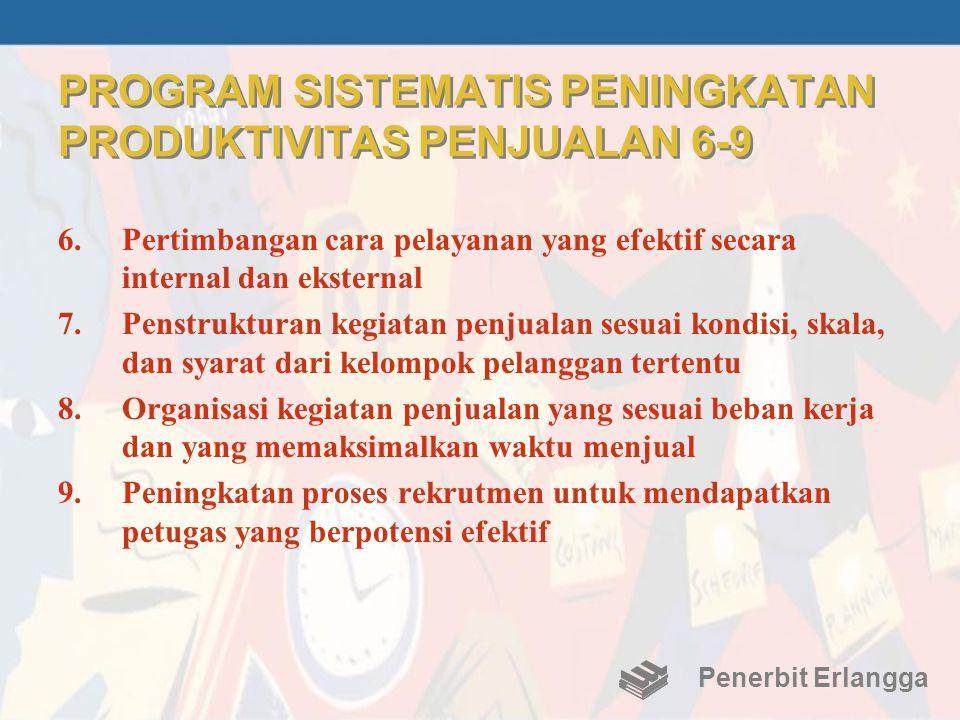 PROGRAM SISTEMATIS PENINGKATAN PRODUKTIVITAS PENJUALAN 6-9