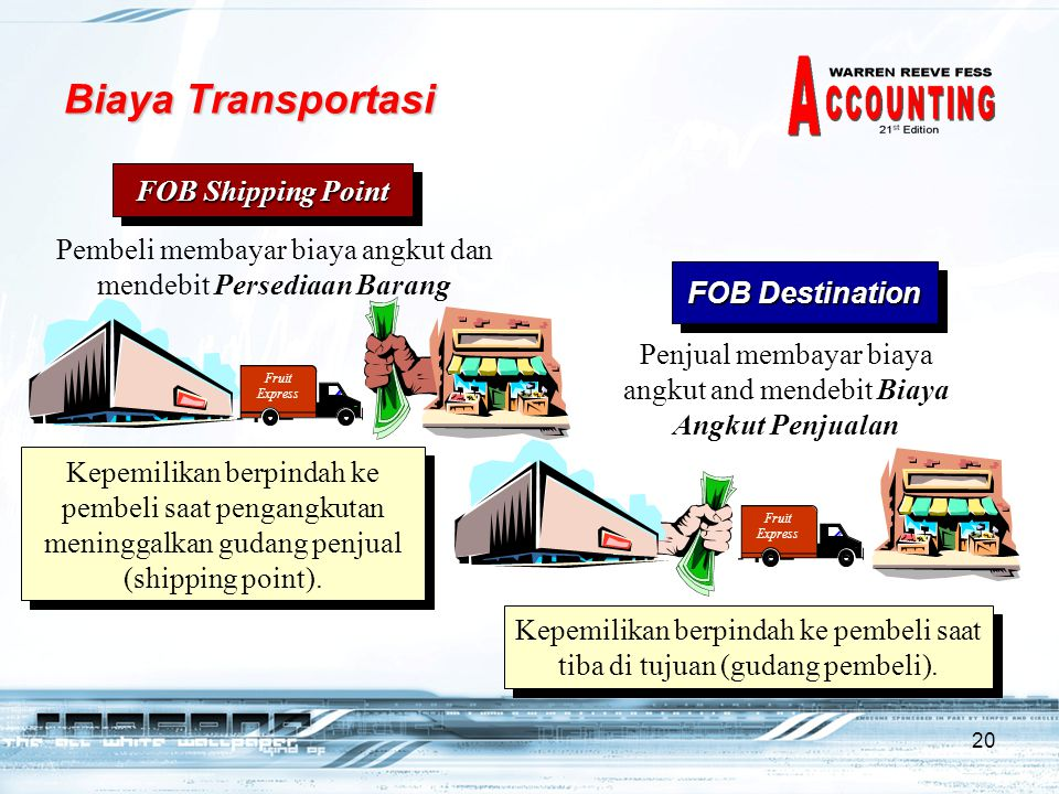Biaya Transportasi FOB Shipping Point