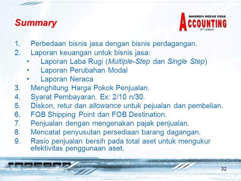 Summary Perbedaan bisnis jasa dengan bisnis perdagangan.