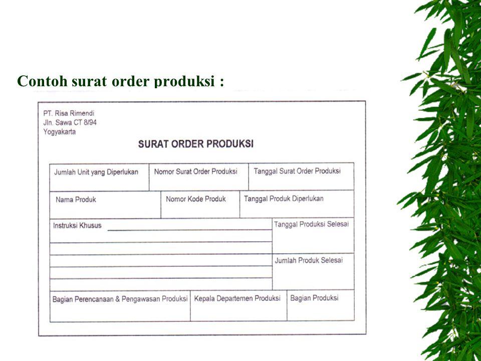Contoh surat order produksi :