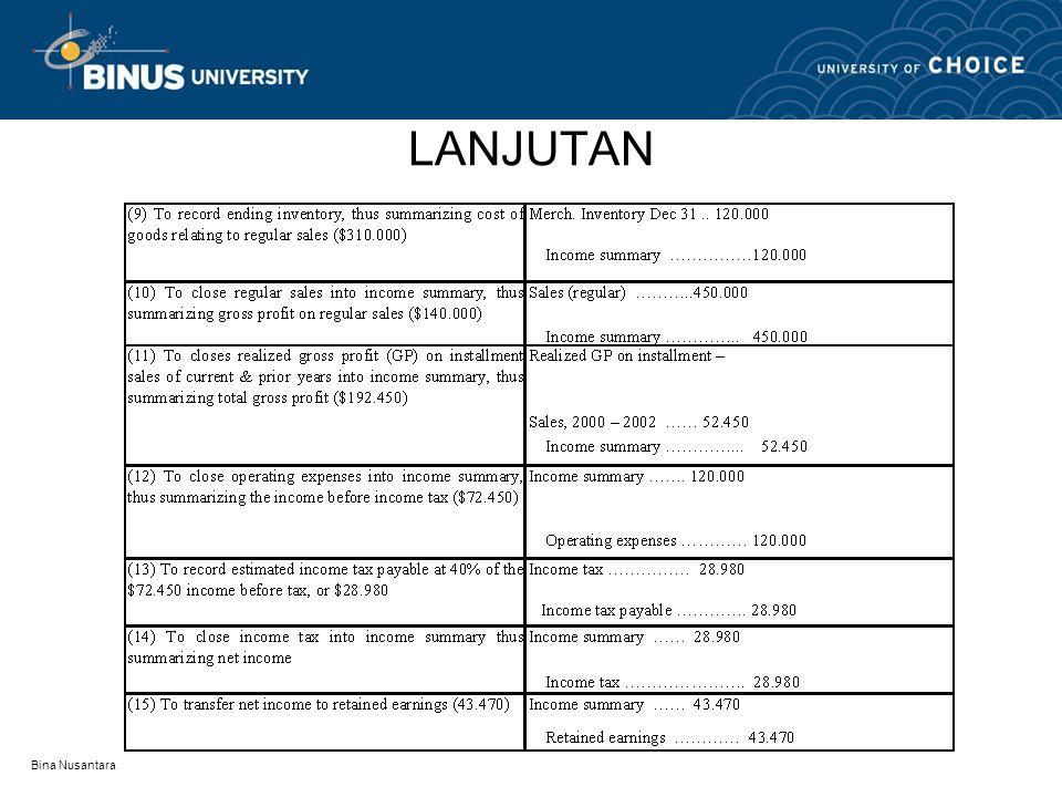 LANJUTAN Bina Nusantara