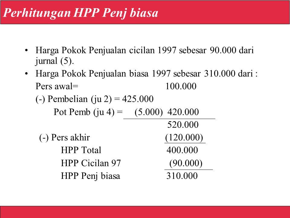 Perhitungan HPP Penj biasa