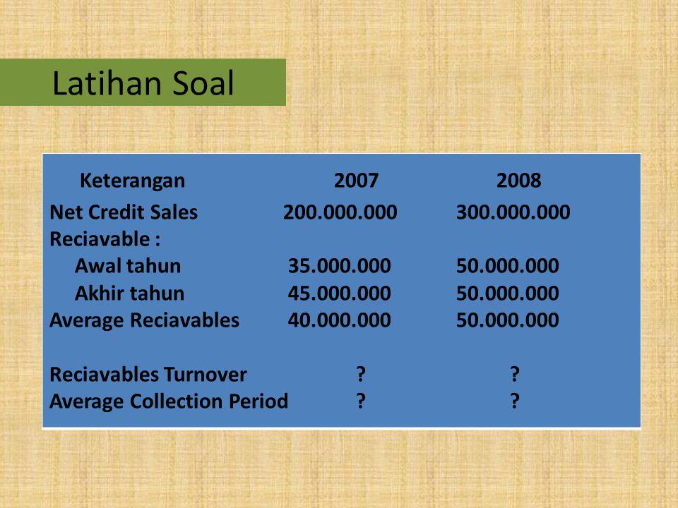 Latihan Soal Keterangan 2007 2008