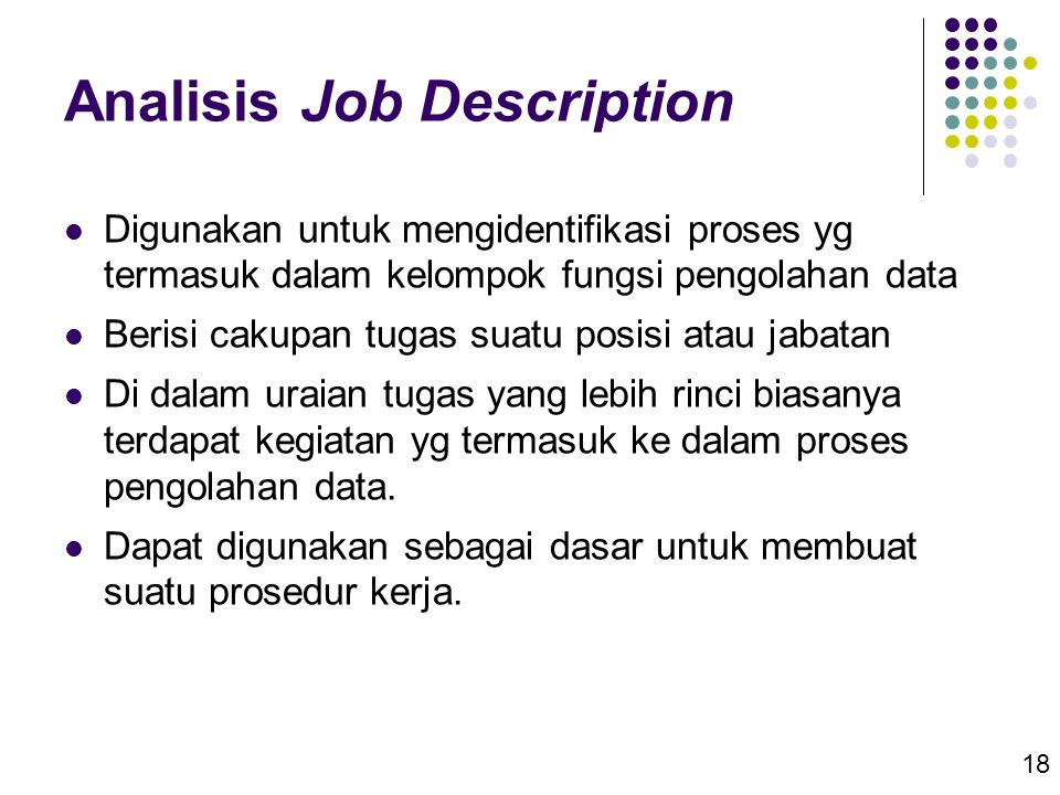 Analisis Job Description
