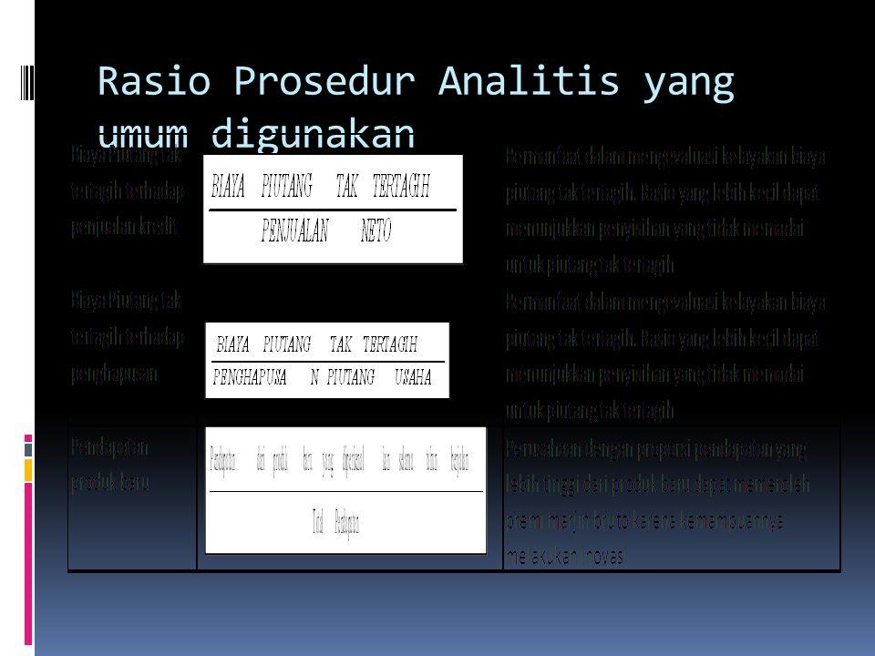 Rasio Prosedur Analitis yang umum digunakan