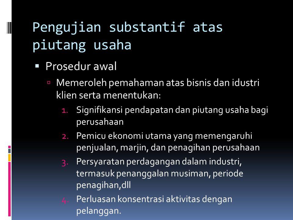 Pengujian substantif atas piutang usaha