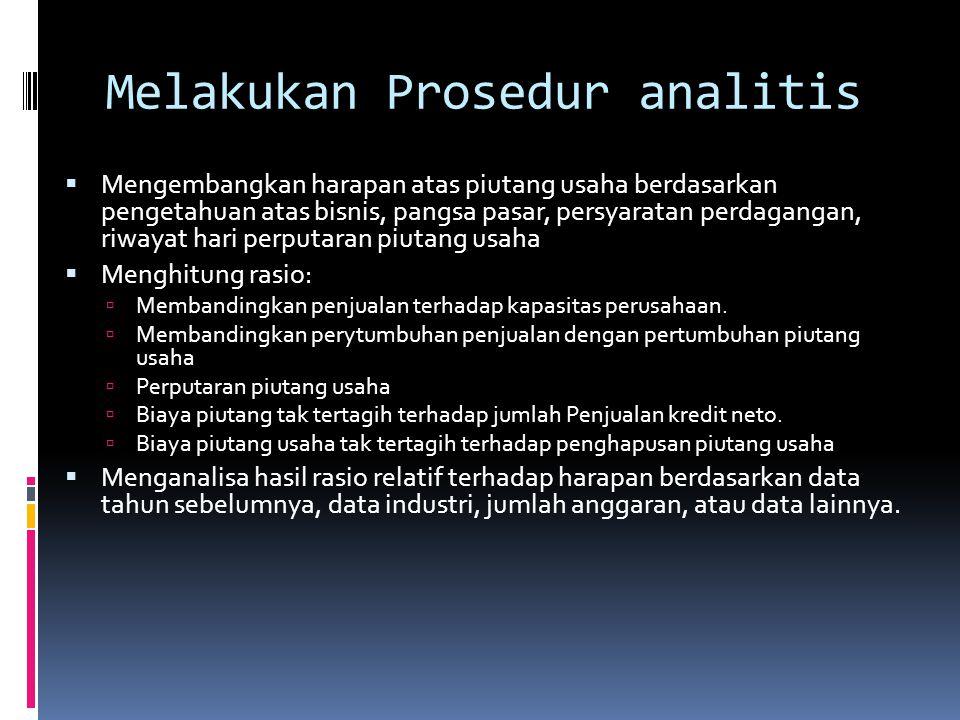 Melakukan Prosedur analitis