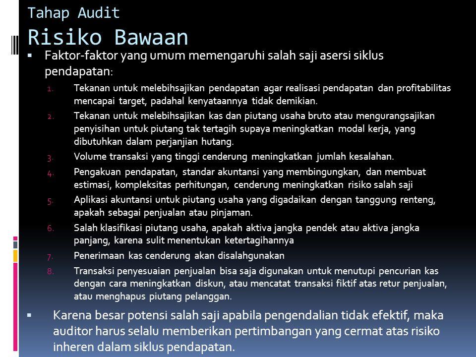 Tahap Audit Risiko Bawaan