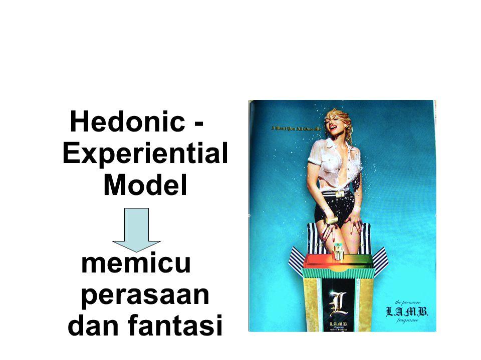 Hedonic - Experiential Model memicu perasaan dan fantasi