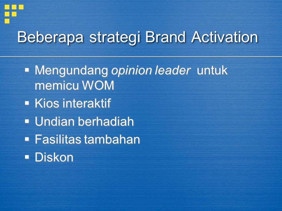 Beberapa strategi Brand Activation
