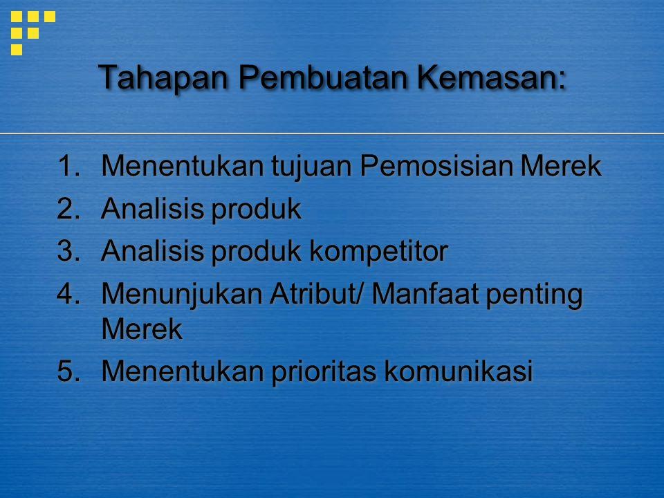 Tahapan Pembuatan Kemasan: