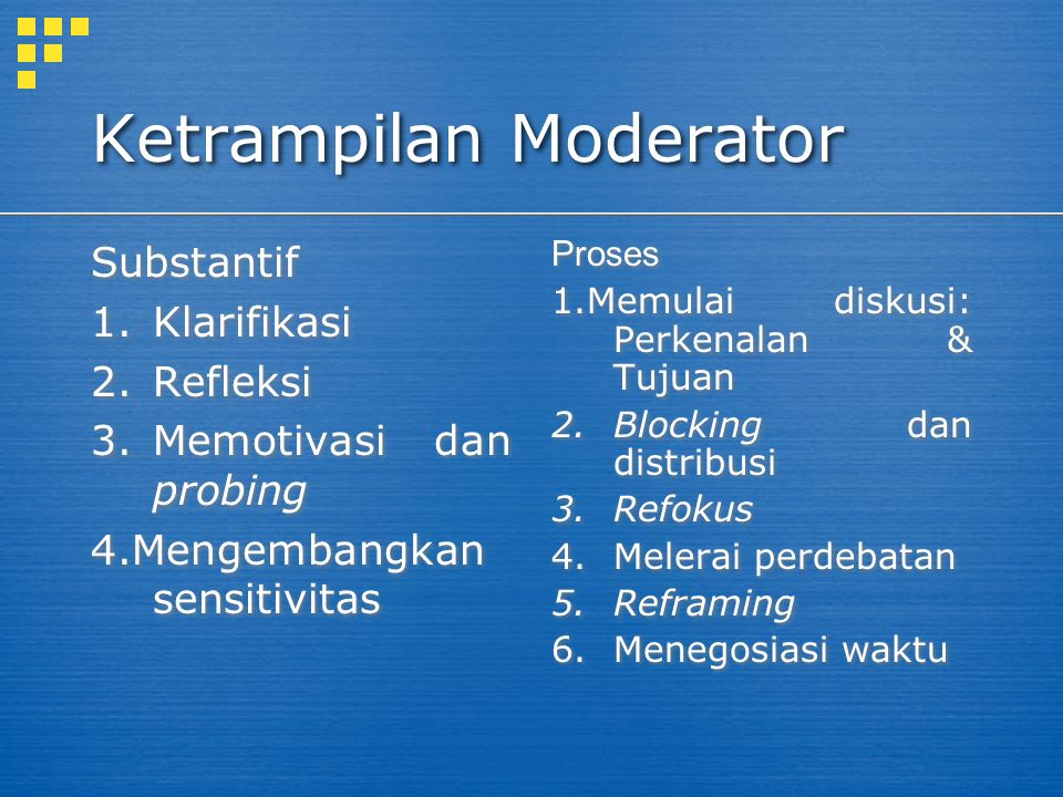 Ketrampilan Moderator