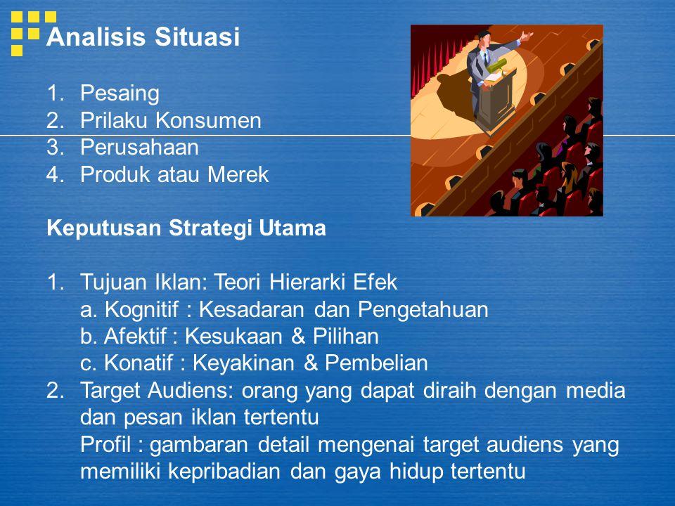 Analisis Situasi Pesaing Prilaku Konsumen Perusahaan Produk atau Merek