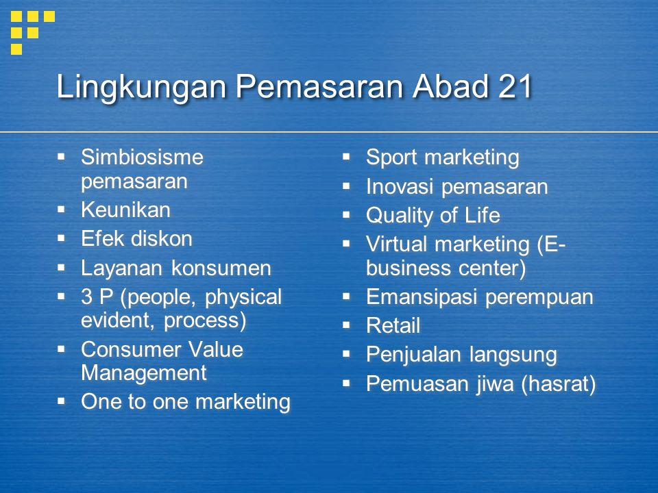 Lingkungan Pemasaran Abad 21