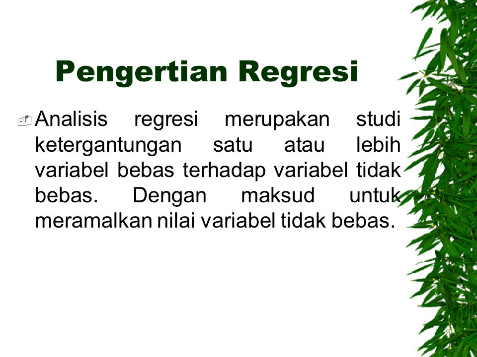 Pengertian Regresi