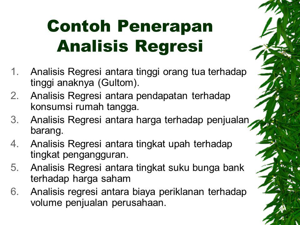Contoh Penerapan Analisis Regresi