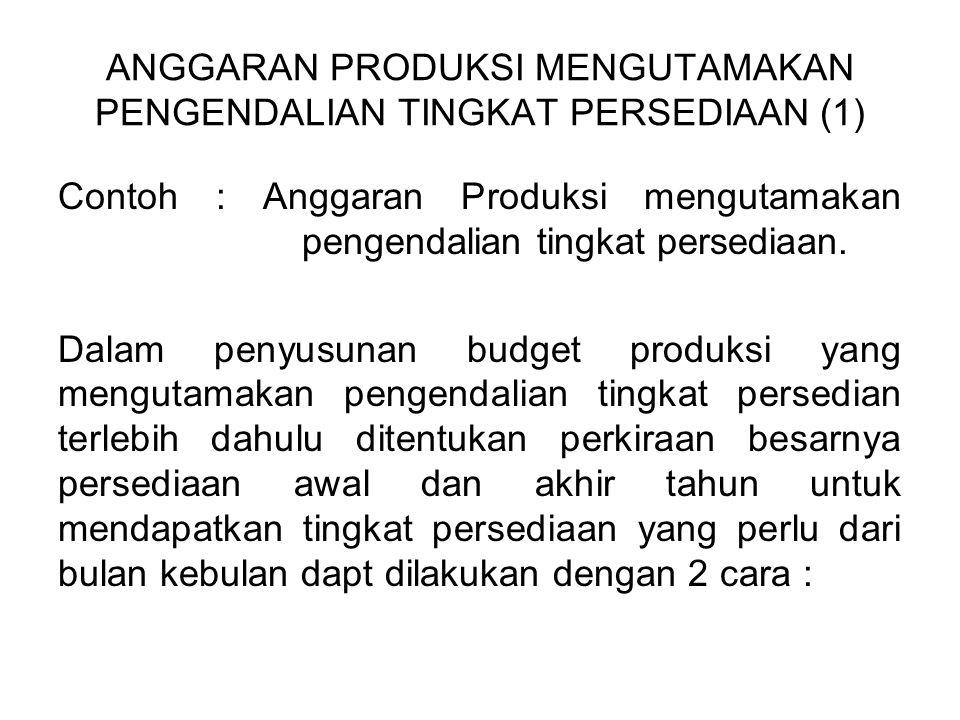 ANGGARAN PRODUKSI MENGUTAMAKAN PENGENDALIAN TINGKAT PERSEDIAAN (1)