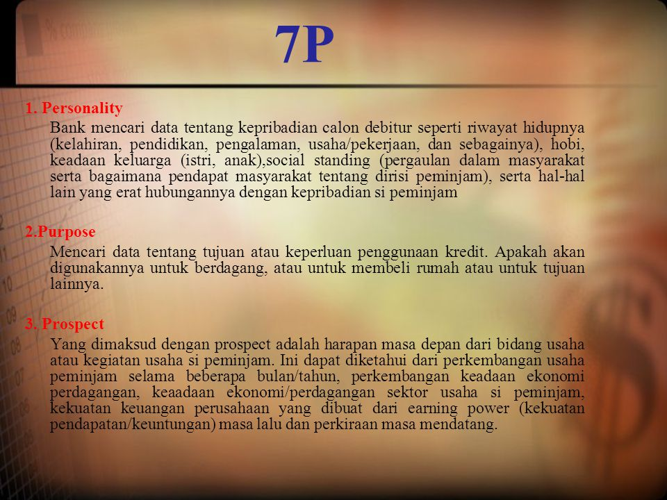 7P 1. Personality.