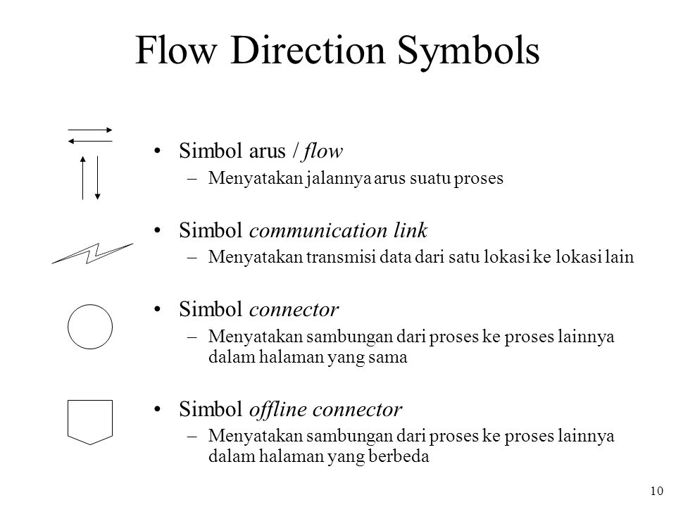 Flow Direction Symbols