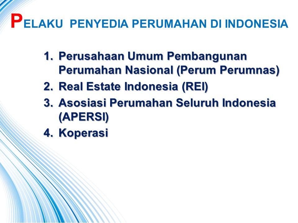 PELAKU PENYEDIA PERUMAHAN DI INDONESIA