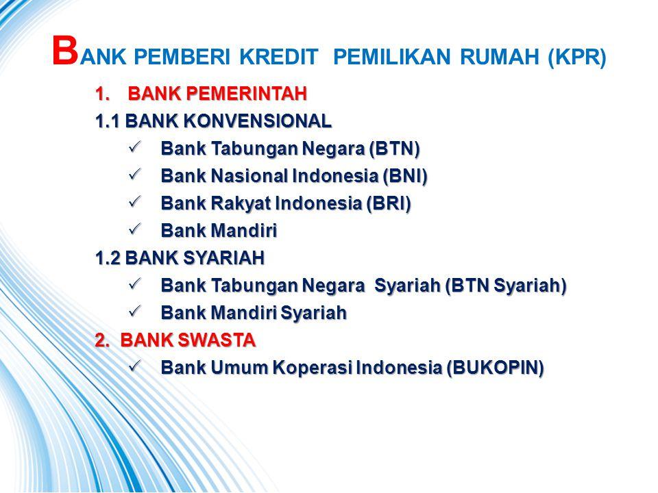 BANK PEMBERI KREDIT PEMILIKAN RUMAH (KPR)