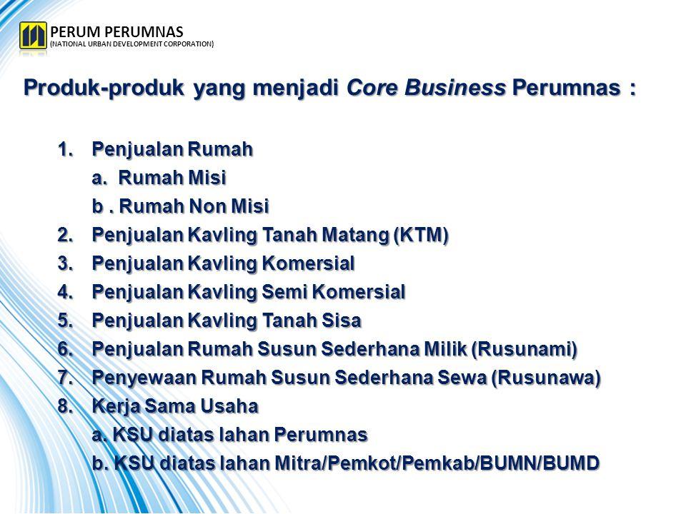 Produk-produk yang menjadi Core Business Perumnas :