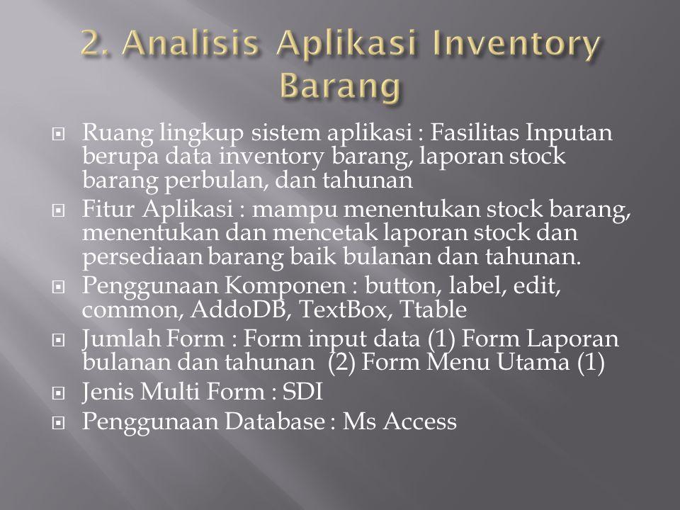 2. Analisis Aplikasi Inventory Barang