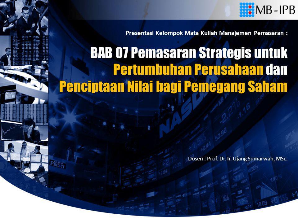 BAB 07 Pemasaran Strategis untuk Pertumbuhan Perusahaan dan
