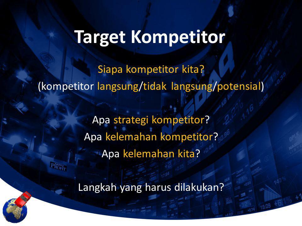 Target Kompetitor Siapa kompetitor kita