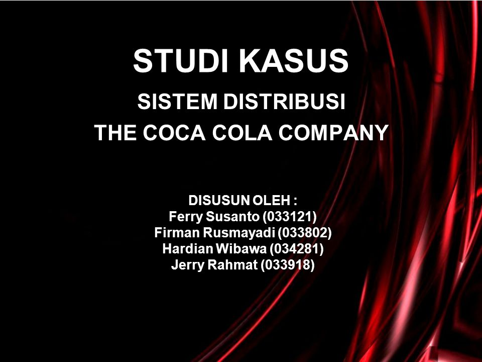 SISTEM DISTRIBUSI THE COCA COLA COMPANY