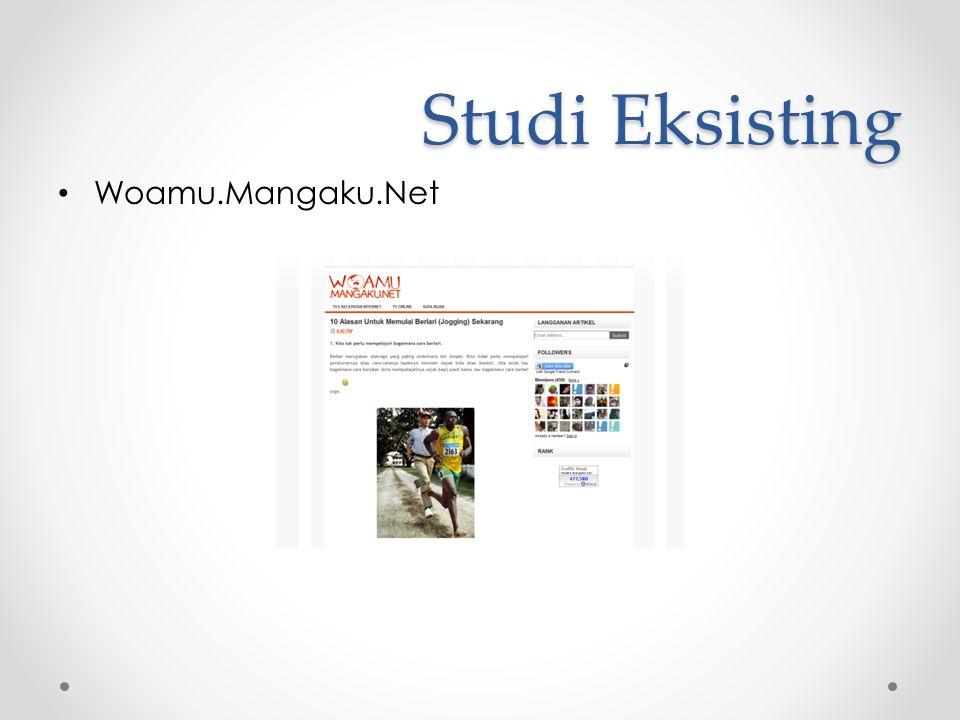 Studi Eksisting Woamu.Mangaku.Net
