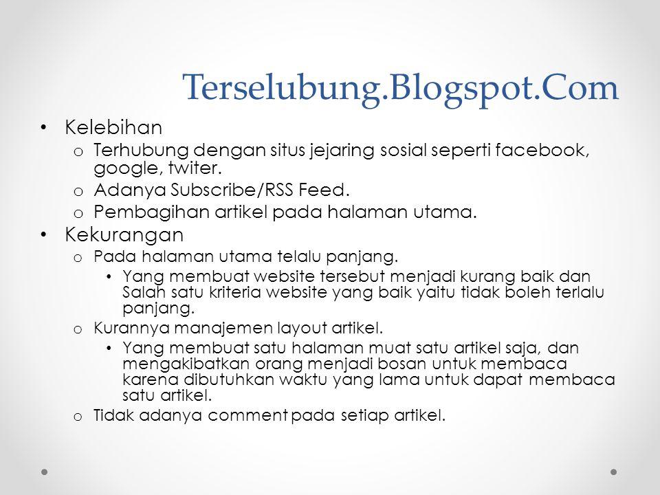 Terselubung.Blogspot.Com Kelebihan Kekurangan